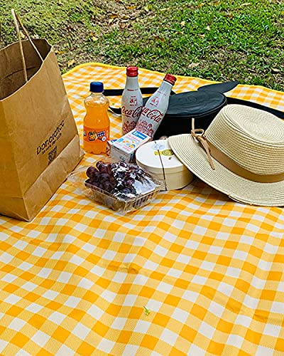 Rantizon Picnic Blankets, 220 X 200 cm Waterproof Picnic Rug Folding Large Size Picnic Blanket for Family Waterproof Compact Picnic Mat Lightweight Picnic Blankets with Backing 87 in x 79 in