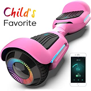 6.5 Inch T580 Swift Hoverboard with Flashed Wheel Smart Self Balanceing Hoverboard with Music Speaker App-Enabled UL2272 Certificated Hoverboard for Kids and Adults