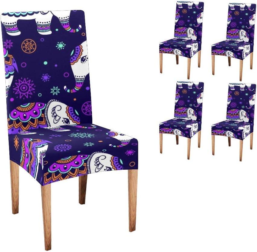 CUXWEOT 永遠の定番モデル Chair Covers Protector Indian Tribal Comfort Elephant So ☆国内最安値に挑戦☆