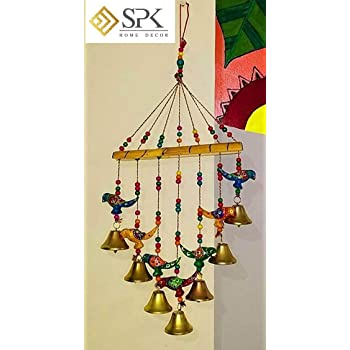 SPK Home decor Wood Wind Chime (Multicolour_45 Cm)