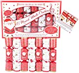 Toyland® Pack of 8 Musical Whistle Santa Design Christmas Crackers - Novelty Decorations
