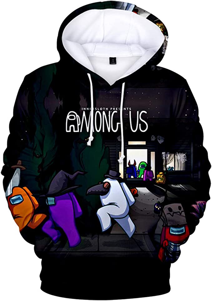 Among Us Hoodie New Game Among Us 3d Print Sweatshirt Cosplay Costume Casual Long Sleeve Hooded Sweatshirt Hoodie Tops For Men Women Amazon De Bekleidung