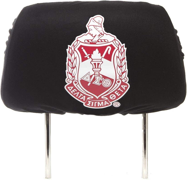 Delta Sigma Theta Sgoldrity Black CAR SEAT Headrest Cover