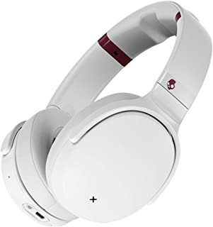 SkullCandy Venue Active Noise Cancelling Headphones, Over The Ear Bluetooth Wireless, Off White
