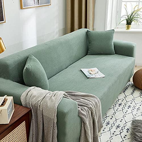 Funda Sofa Elastica 4 Plazas Protector para Sofás Antideslizante Funda Longue Chaise Cubre Sofa de Poliéster Decorativas Cubierta para sofá Ajustables - Azul