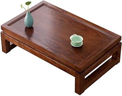 RANRANJJ Japanese-Style Square Coffee Tables - Wooden Dwarf Tea Table Tatami Table for Home, Living Room Furniture (Size : 50 * 40 * 25cm)