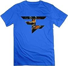 NINJOE Men's Customize Shirt Faze Clan Log Kombat RoyalBlue