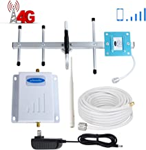 Verizon Cell Phone Signal Booster 4G LTE Phonelex Cell Signal Booster Verizon Cell Phone Signal Amplifier Mobile Phone Signal Booster Repeater Band13 FDD with Whip+Yagi Antenna Kits for Home Use