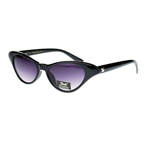 fd4f6f32a43d0 Giselle Womens Narrow Small Face Cat Eye Retro Horn Rim Sunglasses