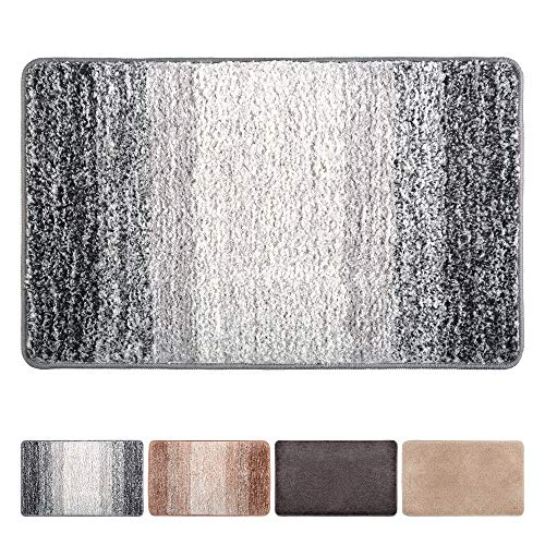 "Julone Indoor Doormat Front Door Mat Non Slip Rubber Backing Absorbent Mud and Snow Magic Inside Dirts Trapper Mats Entrance Door Rug Shoes Scraper Machine Washable - Grey Snowflakes, 20"" x 31.5"""