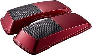 Ember Red Sunglo 6 x 9 inch Saddlebag Speaker Lids Fit for 1993-2013 Harley Touring Street Glide FLH FLHX Hard Saddlebags