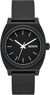 Nixon A1215-001 Medium Time Teller P Women's Watch Black Polyurethane