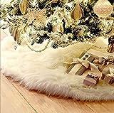 Jrancc Weihnachtsbaum Rock Röcke Dekoration 78 cm Weißes Vlies Rock Base Cover Dekoration für Frohe Weihnachten Holiday Home Decorations Baumschmuck