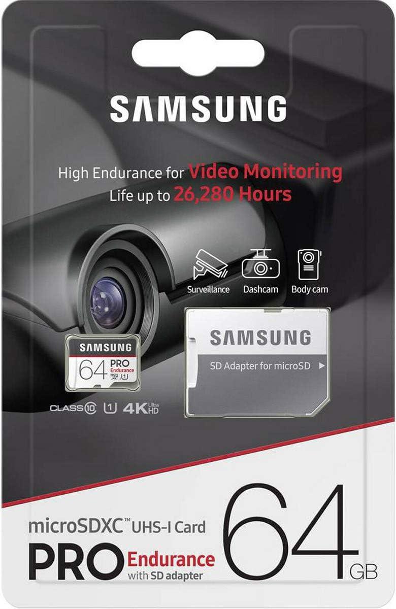 Samsung Pro Endurance 64GB MicroSD HC Memory Card UHS-I for Go Pro Camera Hero 3 4 Fusion 5 6 7 & 8 with USB 3.0 MemoryMarket Dual Slot MicroSD & SD Memory Card Reader