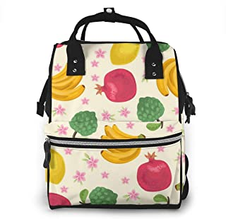 Tropical Fruits Multi-Function Travel Backpack Nappy Bag,Fashion Mummy Bag