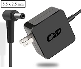 CYD 33W Power-AC-Replacement for Laptop-Charger Asus x551m x551ma x551mav x551c x551ca x551 x 555 x555l x555la x555b x555u x555y x751 x751m x451 adp-33aw a ad890326 8.2ft dc Adapter Cable