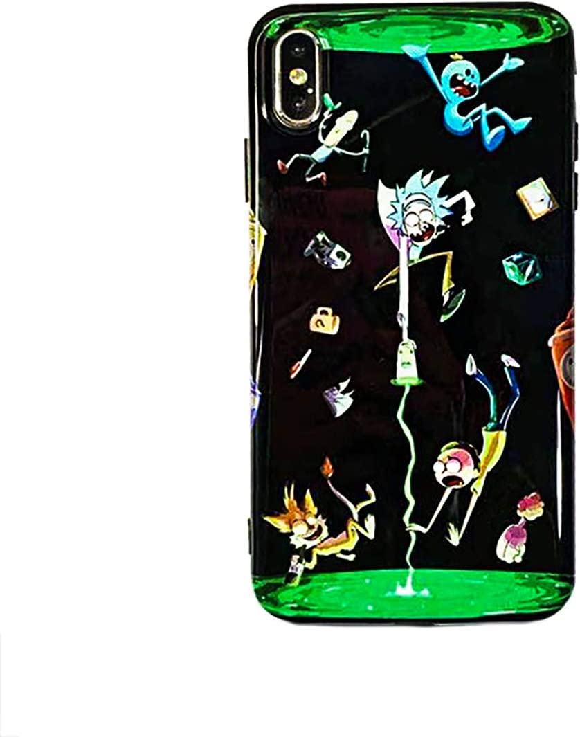 Mort and Rick Galaxy Prisoner Sanchez Design 3D Full Print Soft Silicone Protective Cover Case with Full Protection Bundle and Gift Holder (Portal, iPhone 11 Pro Max)