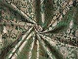 TheFabricFactory Brokat-Stoff, schwerer Seide, Grün x