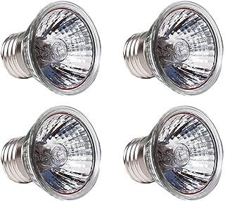 CTKcom 4-Pack 50W UVB Light UVA Bulb E27 Heating Lamp,110V Full Spectrum Reptilian Lamp Lizard Lamp UV Heating Lamp Spot Lamp for Turtle Aquarium Aquatic Reptile Lizard Habitat Heat Lighting,4 Pcs