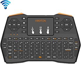 JINYANG Helpful VIBOTON i8 Plus Updated 2.4GHz Qwert Mini Wireless Keyboard with Touchpad for TV Box, Mi Box, Computer, Tablet, Laptop and Projector(Black)