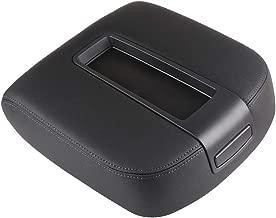 OCPTY Auto Armrest Center Console Lid Skin Cover + Console Box for 2008 2009 2010 2011 2012 Honda Accord(Black)