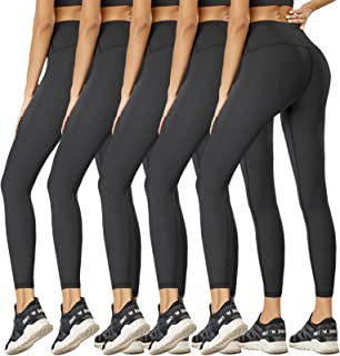 NEW YOUNG Black Leggings for Women-Workout High Waisted Leggings Pack Womens Yoga Pants Buttery Soft