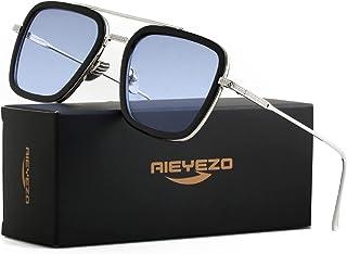 Tony Stark Sunglasses Vintage Square Metal Frame Eyeglasses for Men Women - Iron Man and...