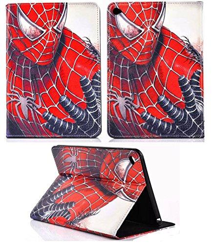 For Apple iPad Pro 9.7''2017 / iPad Pro 9.7 & iPad Air 1-2 Spider-Man USA Marvel DLC Comics Stand Case Cover