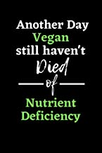 Another day vegan still haven't died of nutrient deficiency: Vegan / Plant based themed lined composition notebook , journal