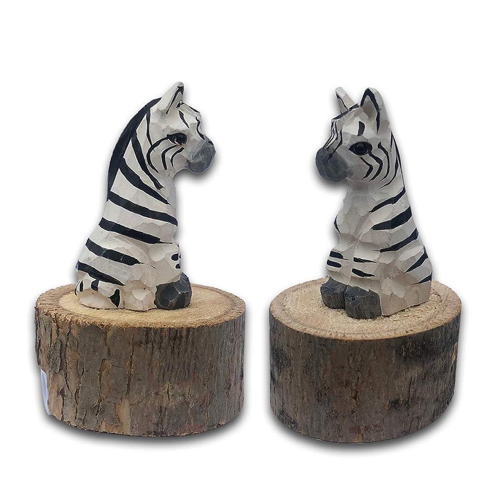 BYLA Manual Mechanical Sharpeners, for Kids & Colored Pencils, 1-Pack, Wooden animal shape pencil sharpener, handmade - Zebra