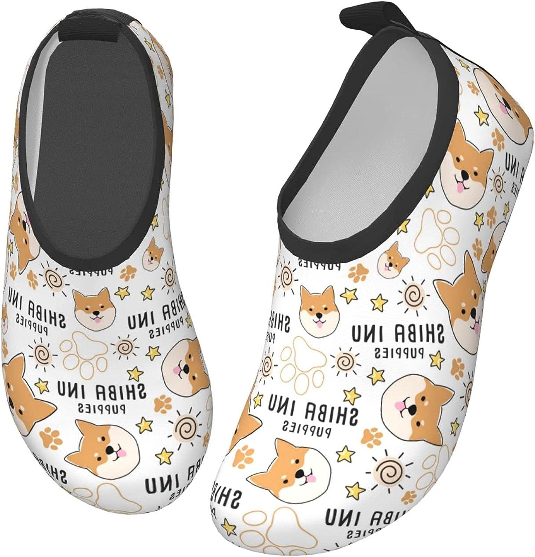 Fairy UMI Shiba Inu Dog Toddler Water Shoes Non-Slip Aqua Sports Shoes Barefoot Swim Shoes Beach Surf for Boys Girls