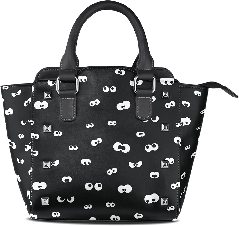 My Little Nest Women's Top Handle Satchel Handbag Halloween Spooky Eyes Ladies PU Leather Shoulder Bag Crossbody Bag