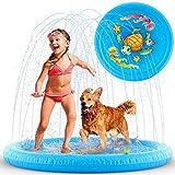 RR CCHTLV1 Colchoneta de Chorros Agua para Niños Hinchable Piscina Bebés Alfombra de Juegos
