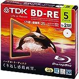 TDK 2倍速対応BD-RE 5枚パック 25GB ホワイト プリンタブル BEV25PWA5A