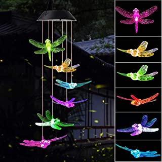 Sponsored Ad - wind chimes outdoor, gifts for mom, solar wind chimes ,dragonfly wind chime ,solar mobile butterfly, mom gi...