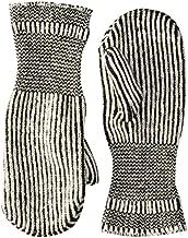 FoxRiver unisex adult Chopper Medium-weight Mitten glove liners, Black/White, Large US
