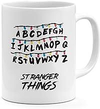 Alphabets Stranger Things 11oz Coffee Mug Tv Show Stranger Things 11oz Ceramic Novelty Mug