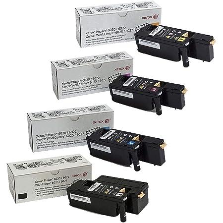 Xerox 106R02756, 106R02757, 106R02758, 106R02759 Phaser 6022 WC 6027 Standard Yield Toner Cartridge Set