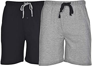 Hanes Men's 2-Pack Knit Short (2X-Large, Black Comfort...