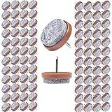 Filzada® 100x Filzgleiter Nagel - Ø 24 mm (braun) - Profi Möbelgleiter/Stuhlgleiter Filz zum Nageln