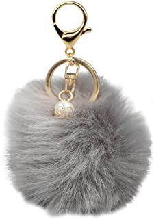 COAFIT Key Chain Pom Pom Handbag Pendant Purse Charm Cell Phone Charm