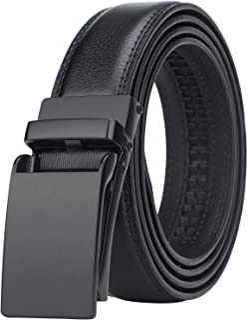 HIMI Men's Comfort Genuine Leather Ratchet Dress Belt with Automatic Click Buckle