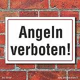 WERBEPUNKT. [2316] Schild Angeln verboten, 3 mm Alu-Verbund (300 x 200 mm)