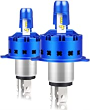 CarBole hb2 hi/Low H4 Headlight Bulb 12000LM 50W All-in-One 9003 Led Conversion Kit Philips Chips Anti Glare 6000K Cooler White Driving Lighting Lamps, 36 Months Warranty, 2 Pack, Blue