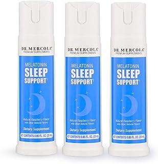 Dr Mercola Melatonin Sleep Support Spray - 3 Bottles - 25mL - Natural Sleep Aid for Deep, Restful Sleep - Plus Sleep-Suppo...
