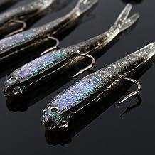 Terzsl - Señuelo de Pesca (10 Piezas, Silicona, Cabeza de Plomo, señuelos Artificiales, señuelo, Cebo, Aparejo)