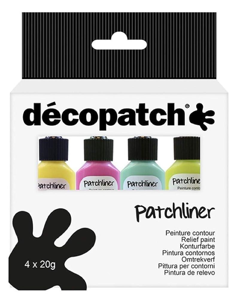 décopatch Patchliners - Pastel Colours, Pack of 4