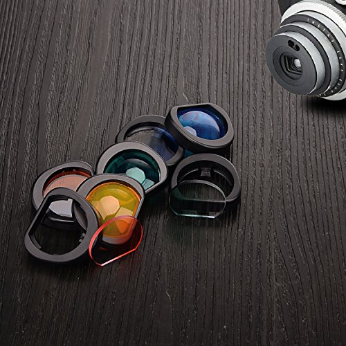 Sunmns Close Up Color Lens Filter Set for Fujifilm Instax Mini 90 Instant Film Camera, 8 Piece