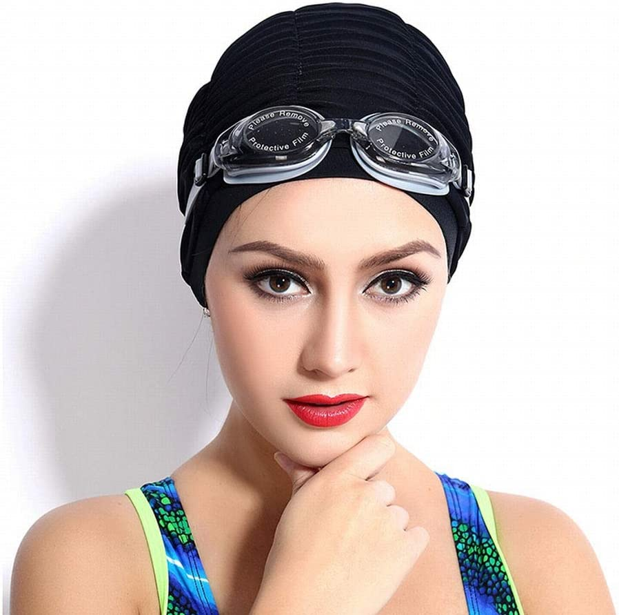 feichang Swimming Caps Long Hair Swim B Cap Fabric Cloth Long-awaited Pleated famous