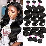Eliana 8A Hair Brazilian Body Wave 3 Bundles 18 20 22inch Unprocessed Virgin Human Hair Weave Natural Black #1B Color Brazilian Hair Bundles